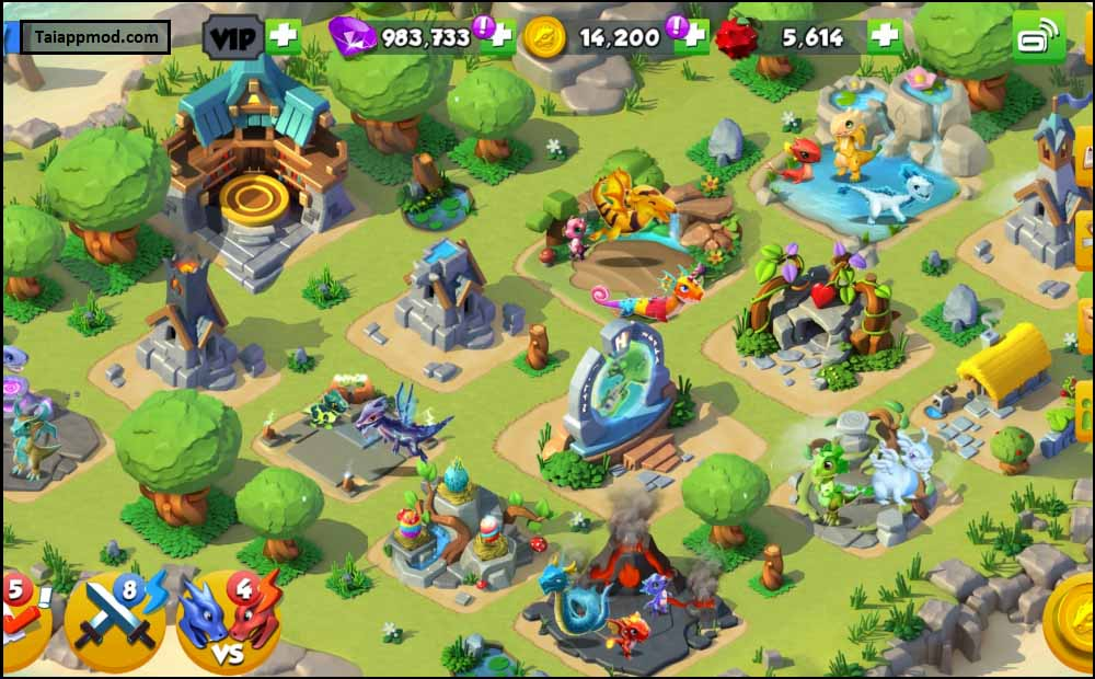 tải hack dragon mania legends